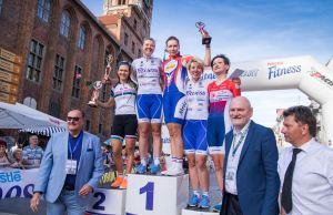 podium Nestle Fitness Tour de Toruń
