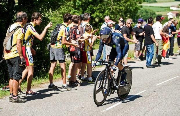 Alejandro Valverde na etapie jazdy na czas