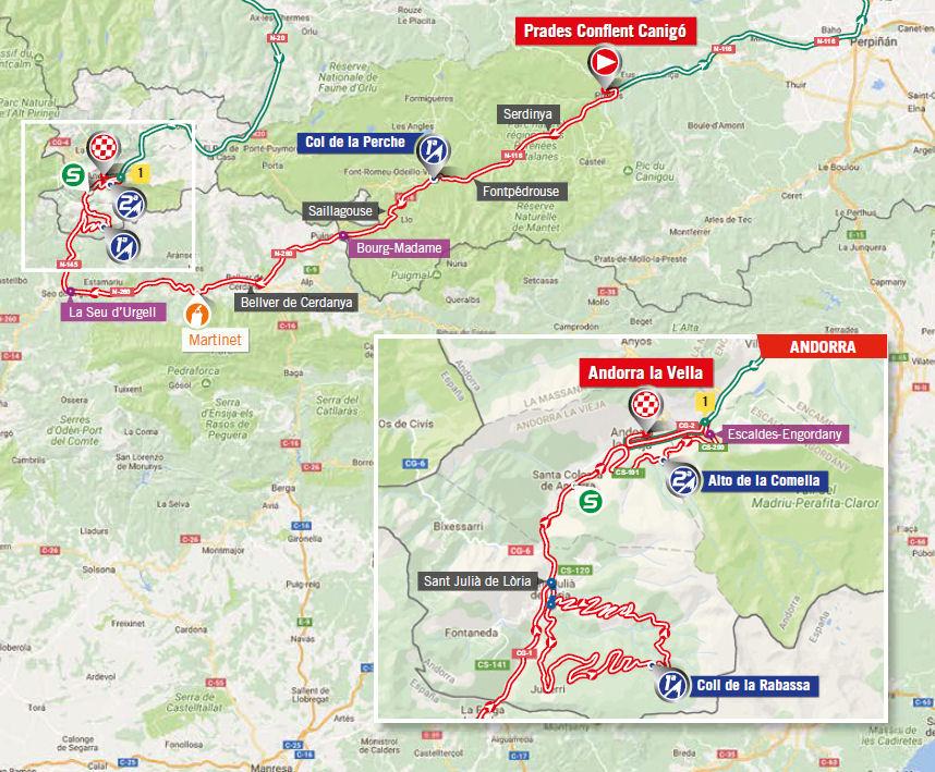 mapka 3. etapu Vuelta a Espana 2017