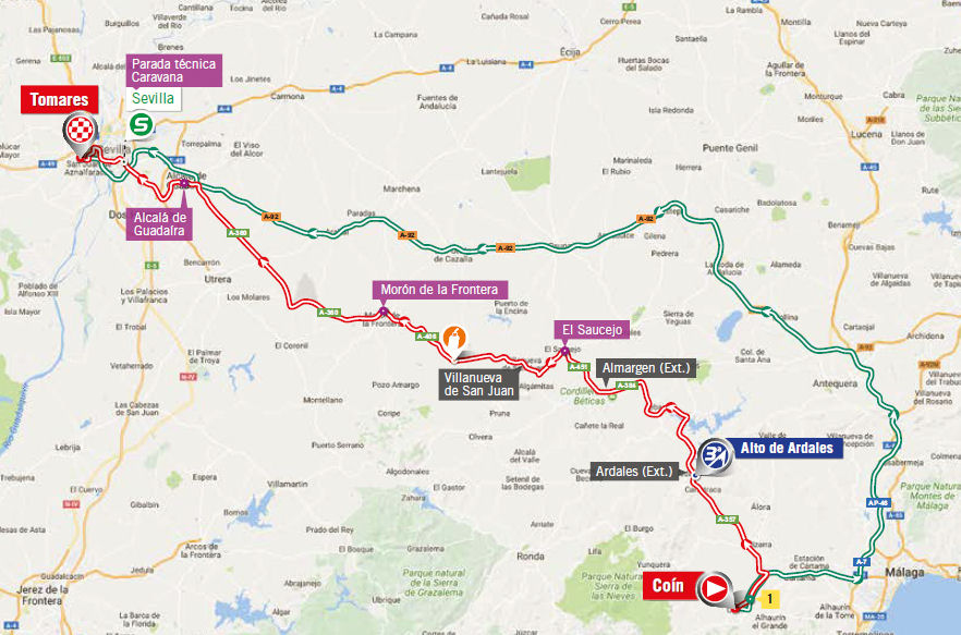 mapka 13. etapu Vuelta a Espana 2017