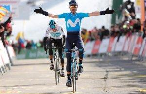 Valverde na 4. etapie Volta a Catalunya. 2018