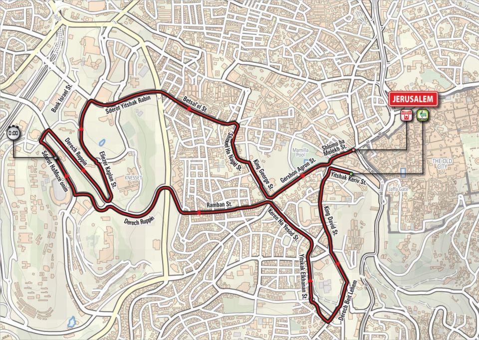 mapa 1. etapu Giro d'Italia 2018