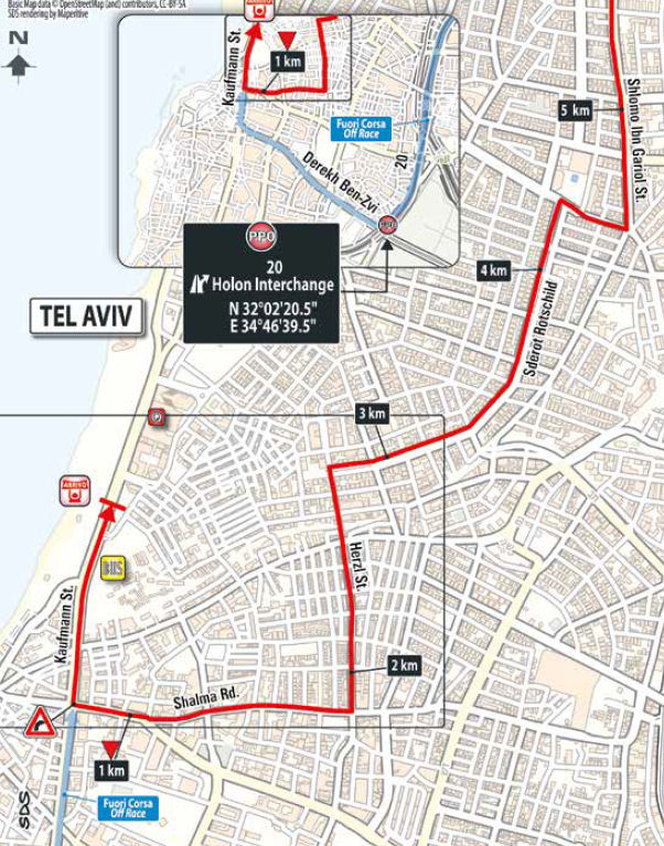 Trasa końcówki 2. etapu Giro d'Italia 2018