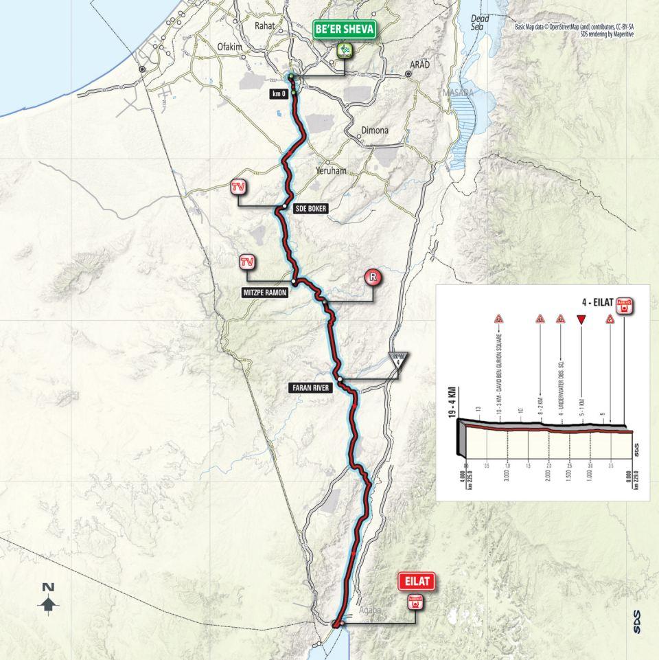 mapka 3. etapu Giro d'Italia 2018