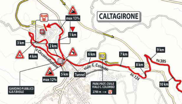 końcowe kilometry 4. etapu Giro d'Italia 2018