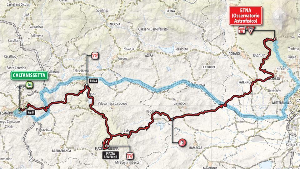 mapka 6. etapu Giro d'Italia 2018