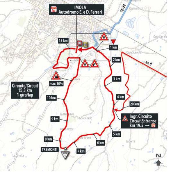 końcowe kilometry 12. etapu Giro d'Italia 2018
