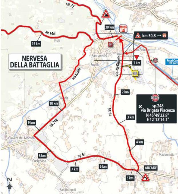 końcowe kilometry 13. etapu Giro d'Italia 2018