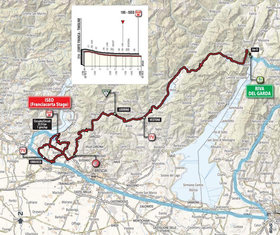 mapka 17. etapu Giro d'Italia 2018