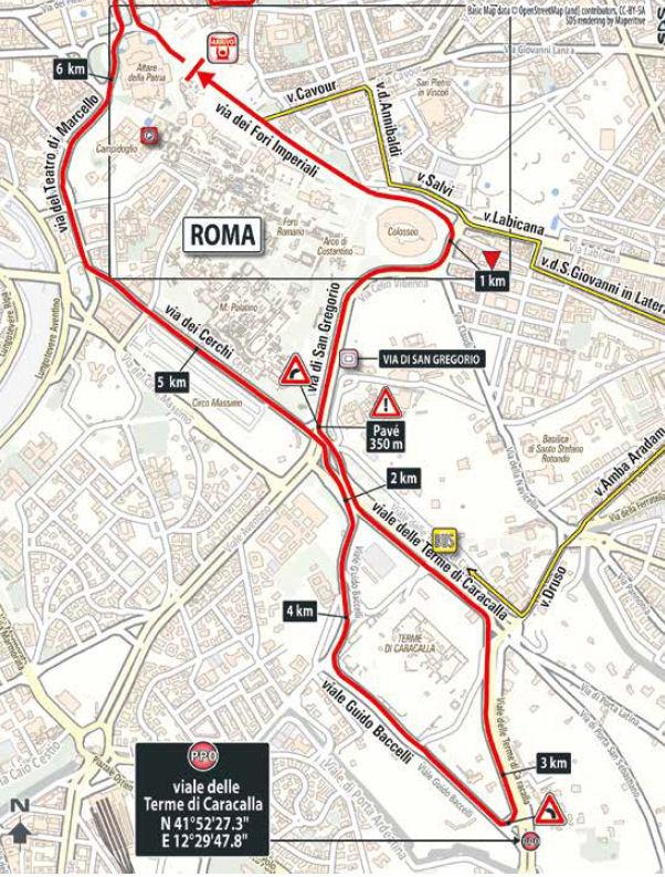 końcowe kilometry 21. etapu Giro d'Italia 2018