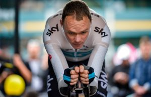 Chris Froome na rowerze czasowym