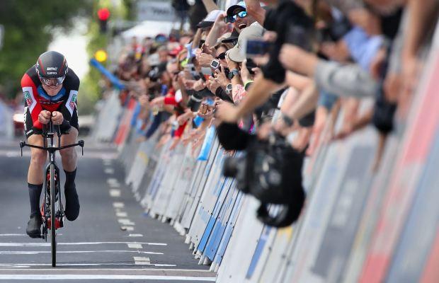 tejay van Garderen na rowerze czasowym