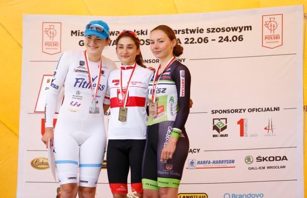 Marta Jaskulska na podim mistrzostw Polski