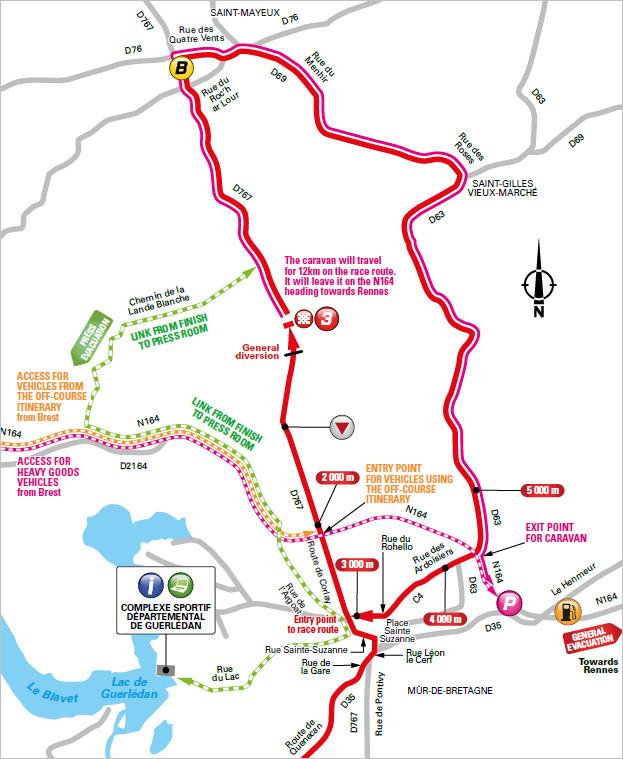 trasa końcówki 6. etapu Tour de France 2018