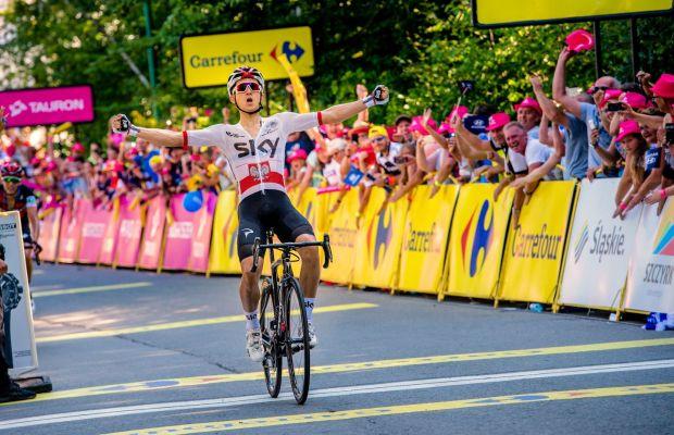 Michał Kwiatkowski na kresce czwartego etapu Tour de Pologne