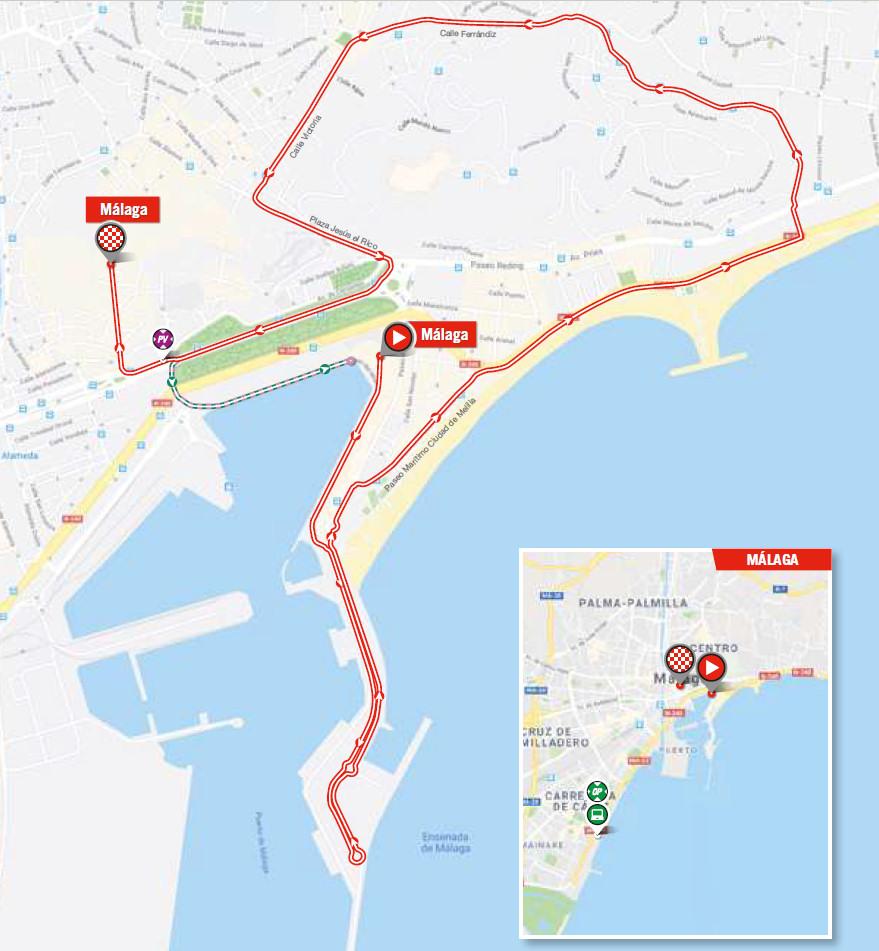 mapka 1. etapu Vuelta a Espana 2018