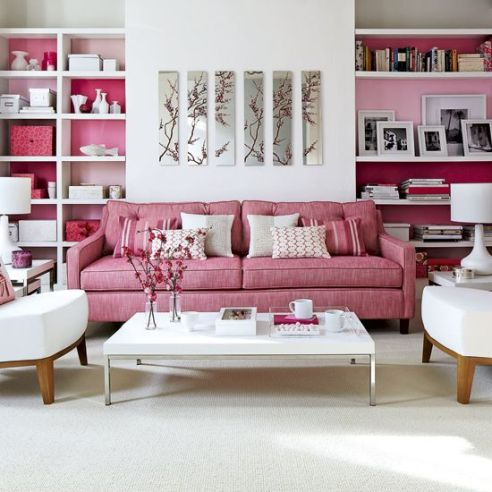 Paint Inside Bookcases For A Bright Pop