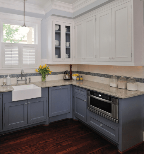 Blue And White Cabinets