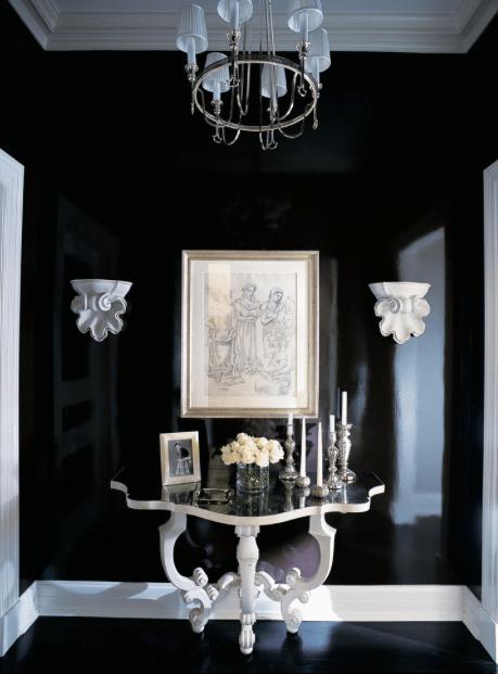 Glossy Black Foyer
