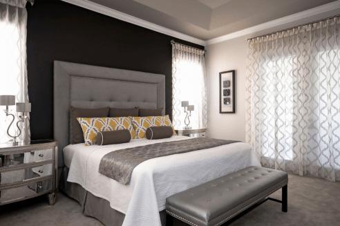 Black Bedroom Accent Wall