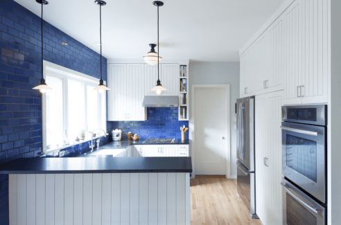 Modern Blue And White Kitchen