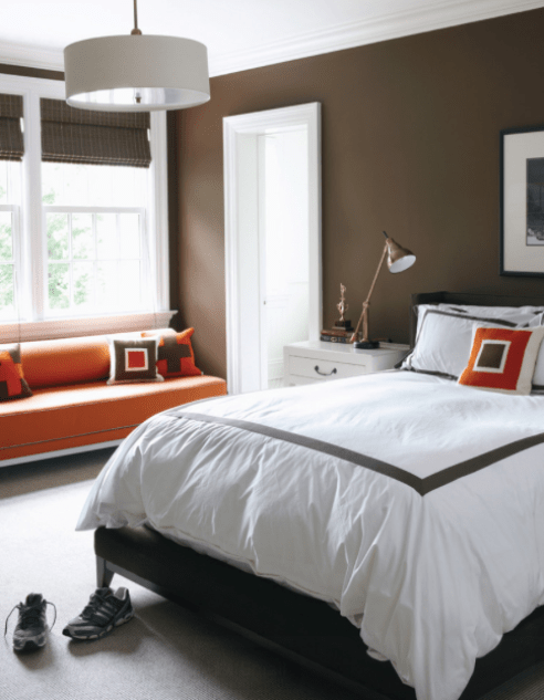 Get the look at home with Benjamin Moore Whitall Brown HC-69