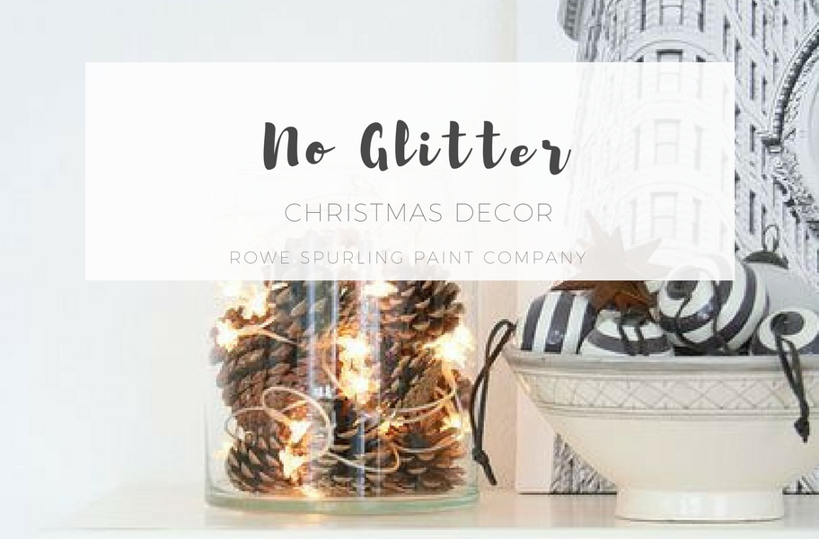 NO GLITTER Christmas Decor