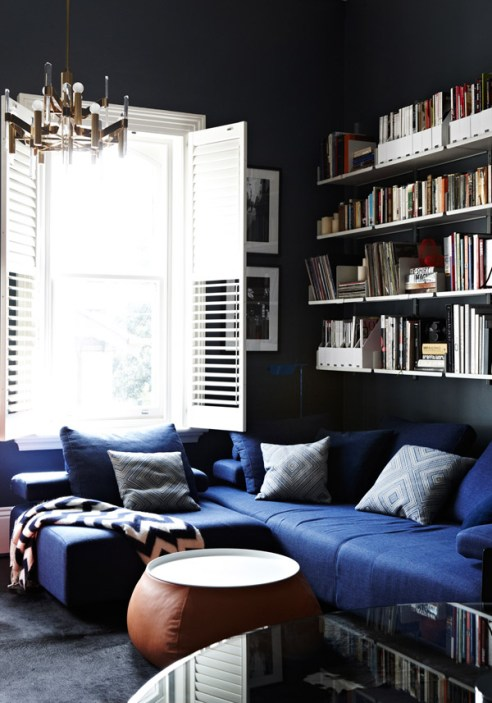If you're not afraid of bold colour try a rich charcoal. It will look stunning even in small spaces.