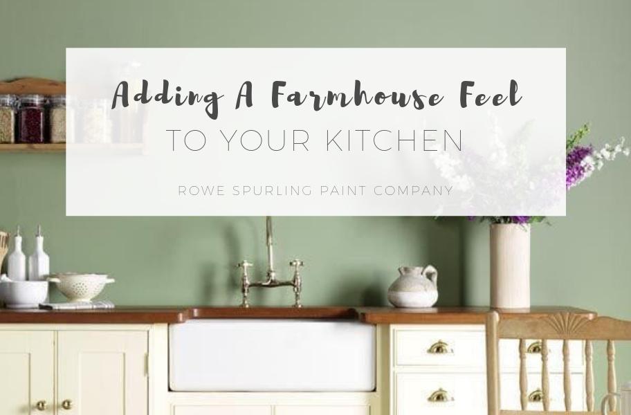 Adding A Farmhouse Feel To Your Kitchen