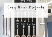 Easy Rainy Sunday Home Projects