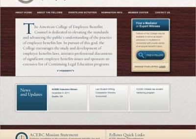 ACEBC Site, Home Page