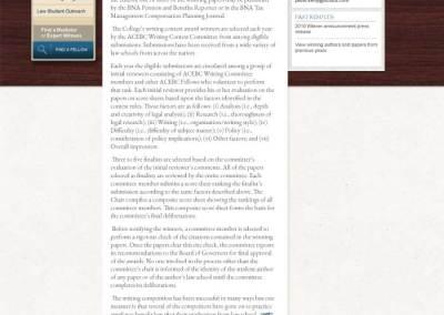 ACEBC Site, Full Interior Page