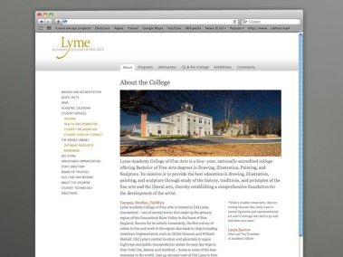Lyme Academy about the college