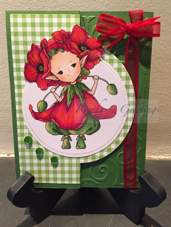 Rowhouse Greetings | Notecard | Poppy Sprite by Aurora Wings