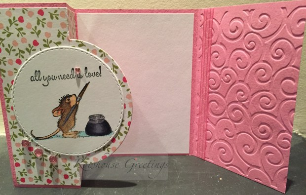 Rowhouse Greetings   Thank you card   Amanda Writes by House Mouse Designs