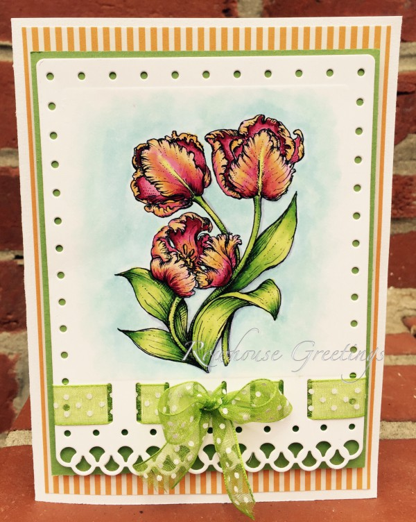 Rowhouse Greetings | Thank You | Tulips Digital Stamp Set by Power Poppy