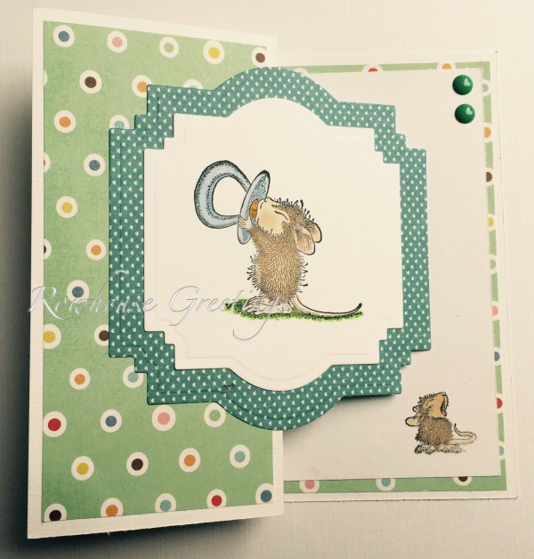 Rowhouse Greetings | New Baby | Amanda with Pacifier by House Mouse Designs