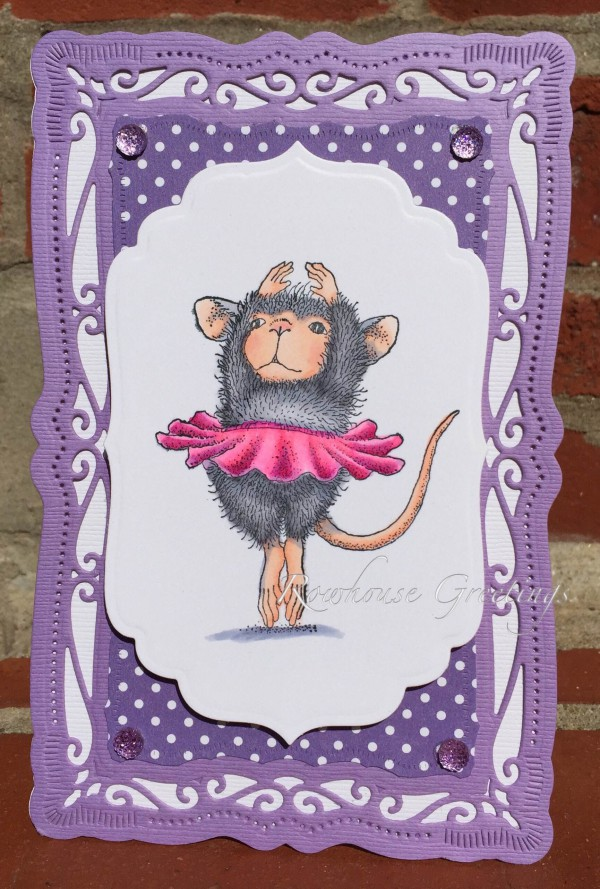 Rowhouse Greetings   Ballerina Baby by House Mouse Designs