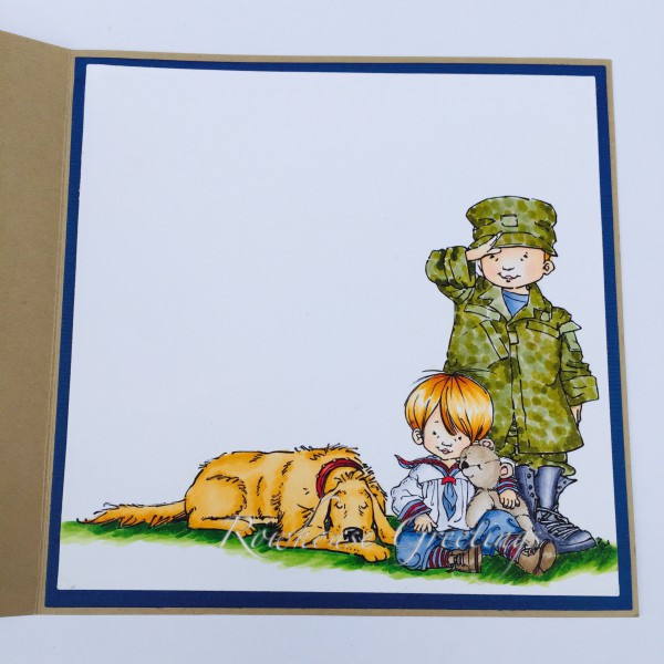 Rowhouse Greetings | Military Homecoming | Soldier Boy, Sailor Boy & Lazy Mutt  by Mo's Digital Pencil