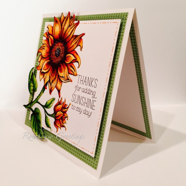 Rowhouse Greetings | Thank You | Sunflower Power by Power Poppy