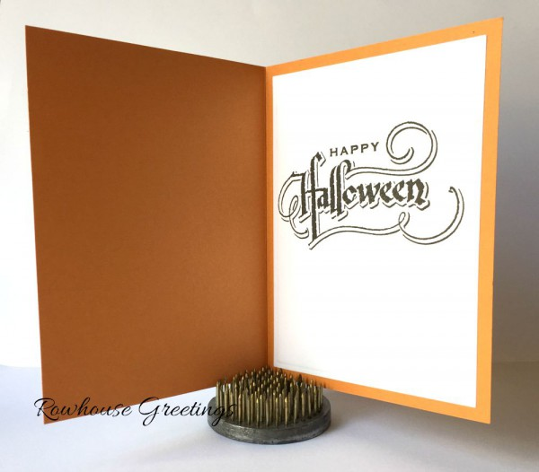 Rowhouse Greetings   Halloween   Tim Holtz 2015 Script Halloween by Stampers Anonymous
