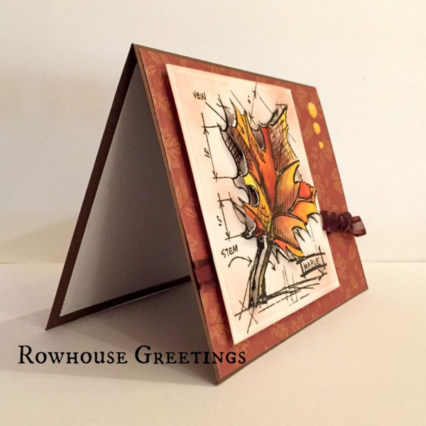 Rowhouse Greetings   Autumn   Tim Holtz Maple Sketch by Stampers Anonymous