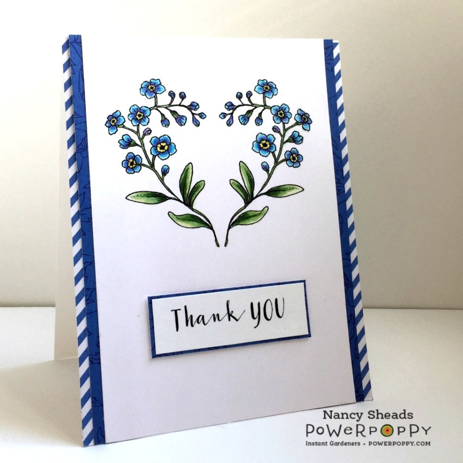 Rowhouse Greetings | Forget Me Not Heart by Power Poppy