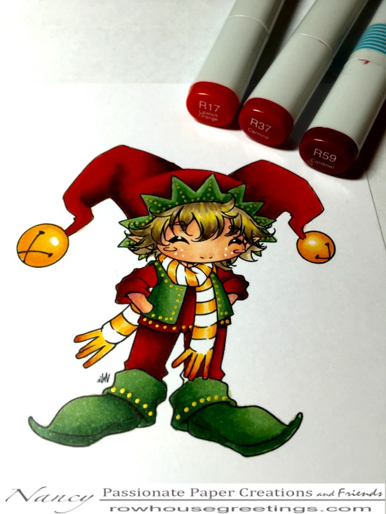 Rowhouse Greetings   Zippy the Elf by Make It Crafty