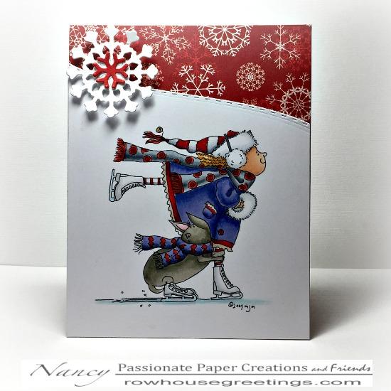 Rowhouse Greetings | Christmas | Skating by Mo's Digital Pencil