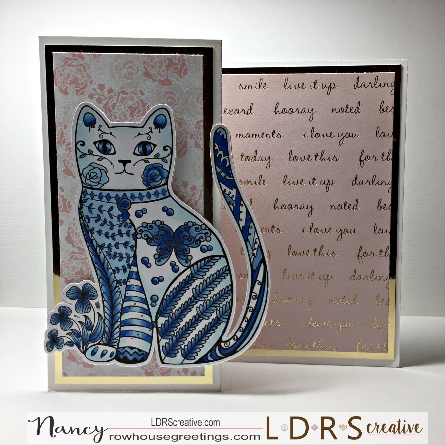 Rowhouse Greetings | Clawdia Cat by Art-Z