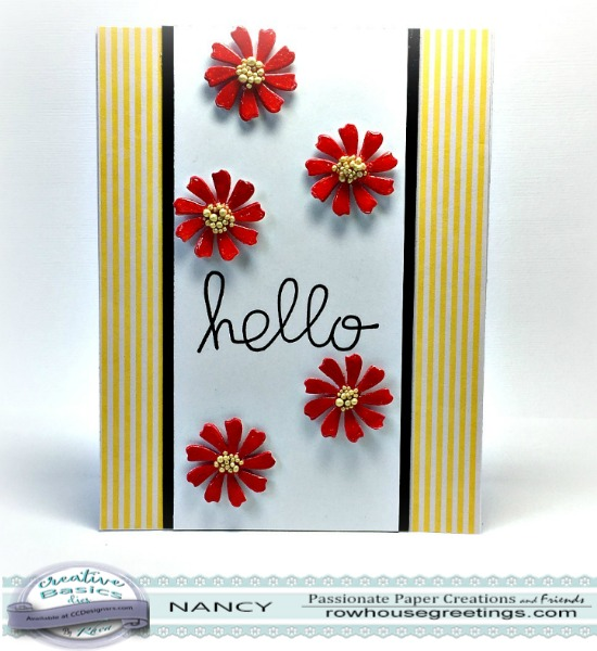 Rowhouse Greetings | Creative Basics Dotted Daisies Die Set