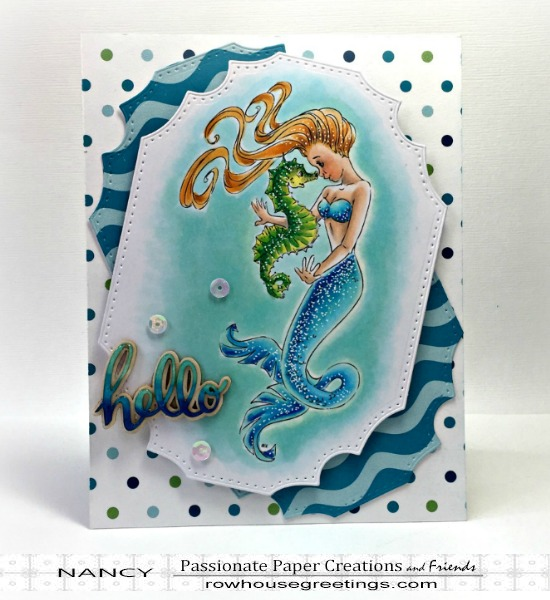Rowhouse Greetings | Mermaid Shelina by Make It Crafty