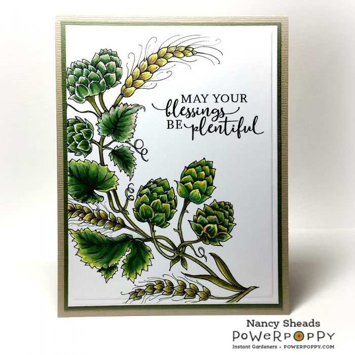 Rowhouse Greetings | Barley and Hops by Power Poppy