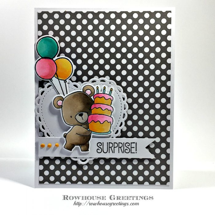 Rowhouse Greetings | Beary Special Birthday by My Favorite Things Stamps (MFT Stamps)